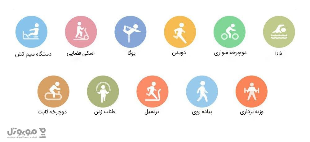 11 فعالیت ورزشی در شیائومی می بند 5 قابل پایش است