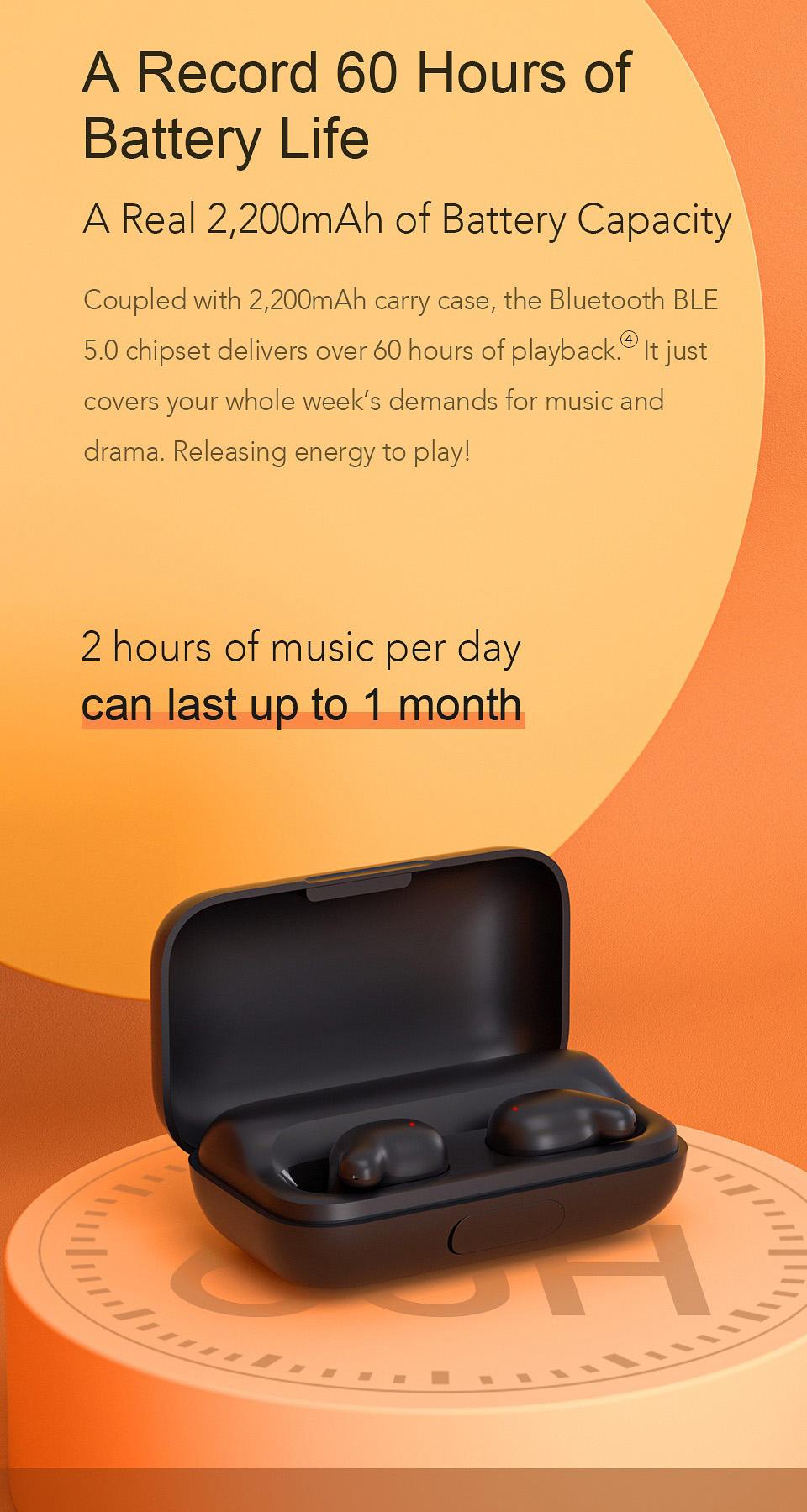 روزی 2 ساعت موسیقی گوش بدهید تا 1 ماه شارژ دارید