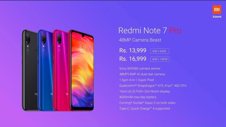 شیائومی Redmi Note 7 Pro را معرفی کرد