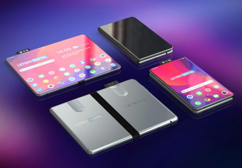 تلفن هوشمند تاشو اوپو زیبا و کارآمد