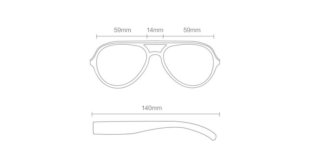 طراحی عینک پلاریزه شیائومی STR015-0105