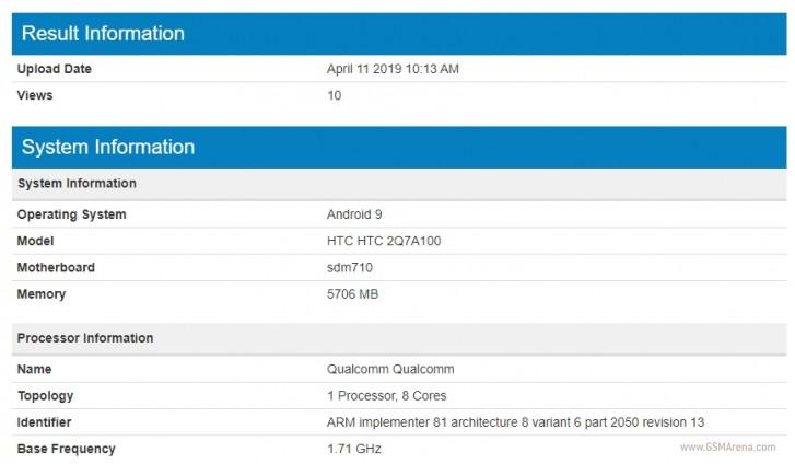 از گوشی جدید کمپانی HTC در بنچمارک رونمایی شد